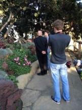 40 Fr Fulco and Erik in the Garden
