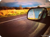 Rainbow in the rearview
