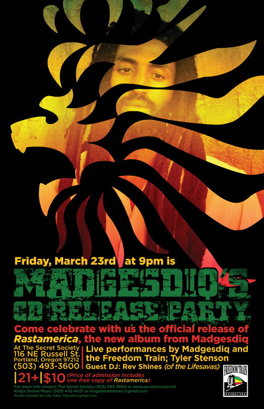 Madgesdiq CD Release Party at Secret Society Ballroom