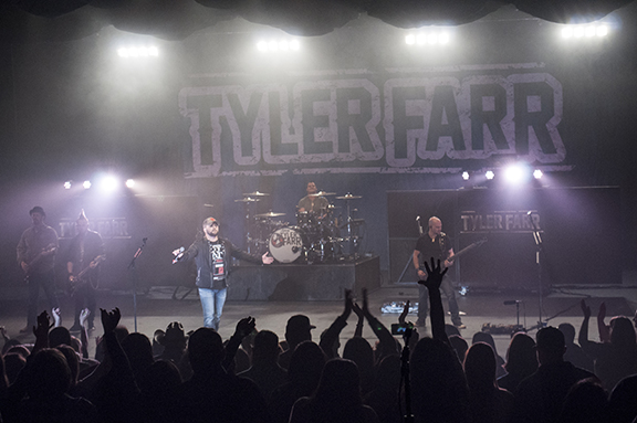 "Ty was honored to have been chosen to open for fast rising Tyler Farr. Tyler Farr is a Nashville Columbia recording artist with his recent #1 platinum-selling title track ""Redneck Crazy"" and ""gold-certified ""Whiskey In My Water""."