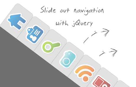 Beautiful Slideout Navigation with jquery and css