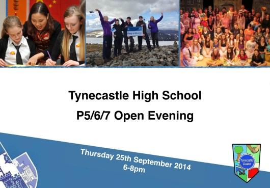 Open Evening Poster 2014