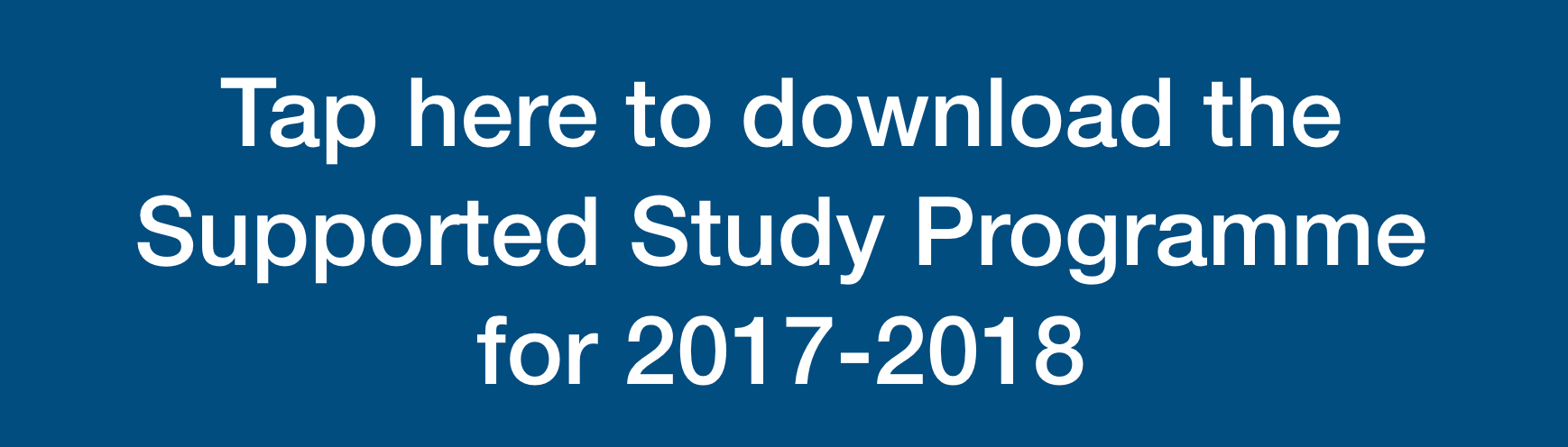 Supported Study Programme 2018