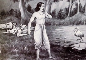 Yudhishthira's seeing his brother