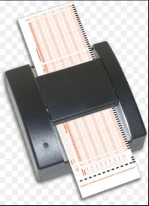 optical mark reader input device