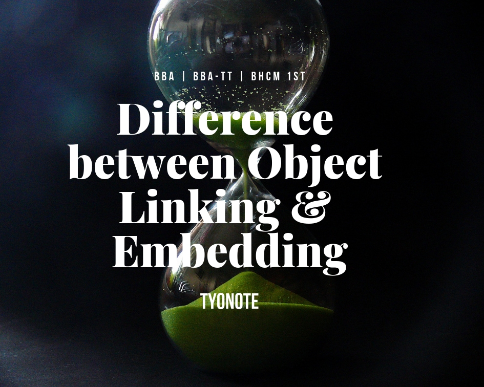 difference between object linking embedding ole