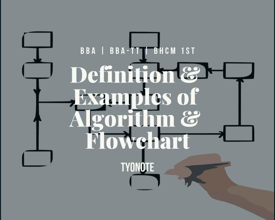definition examples algorithm flowchart