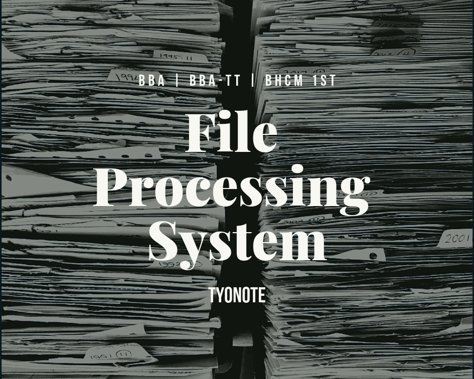 file processing system problems