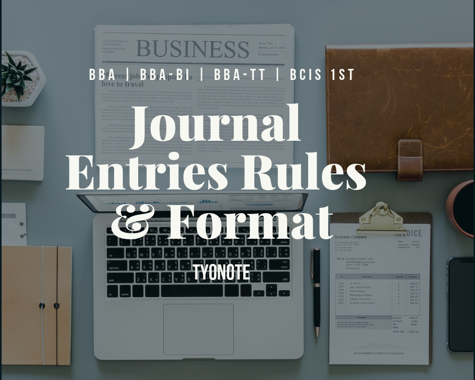 journal entries rules and format
