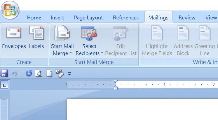 mail merge creating steps