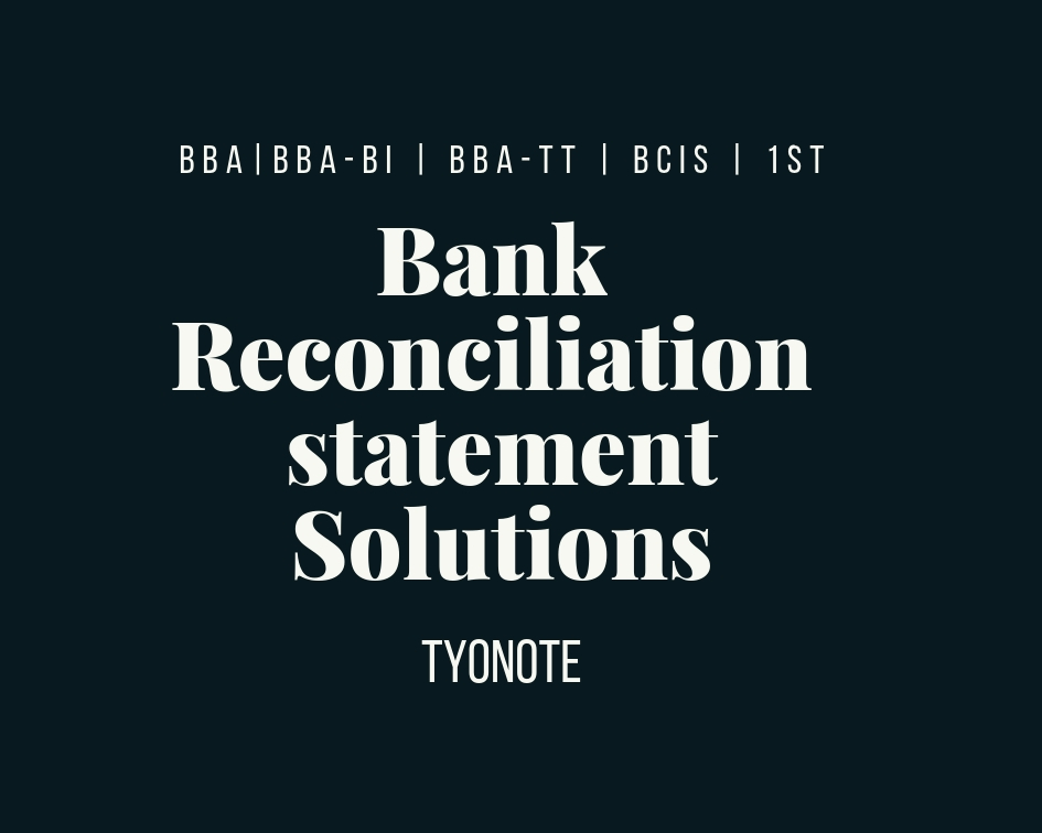 financial accounting bank reconciliation statement example
