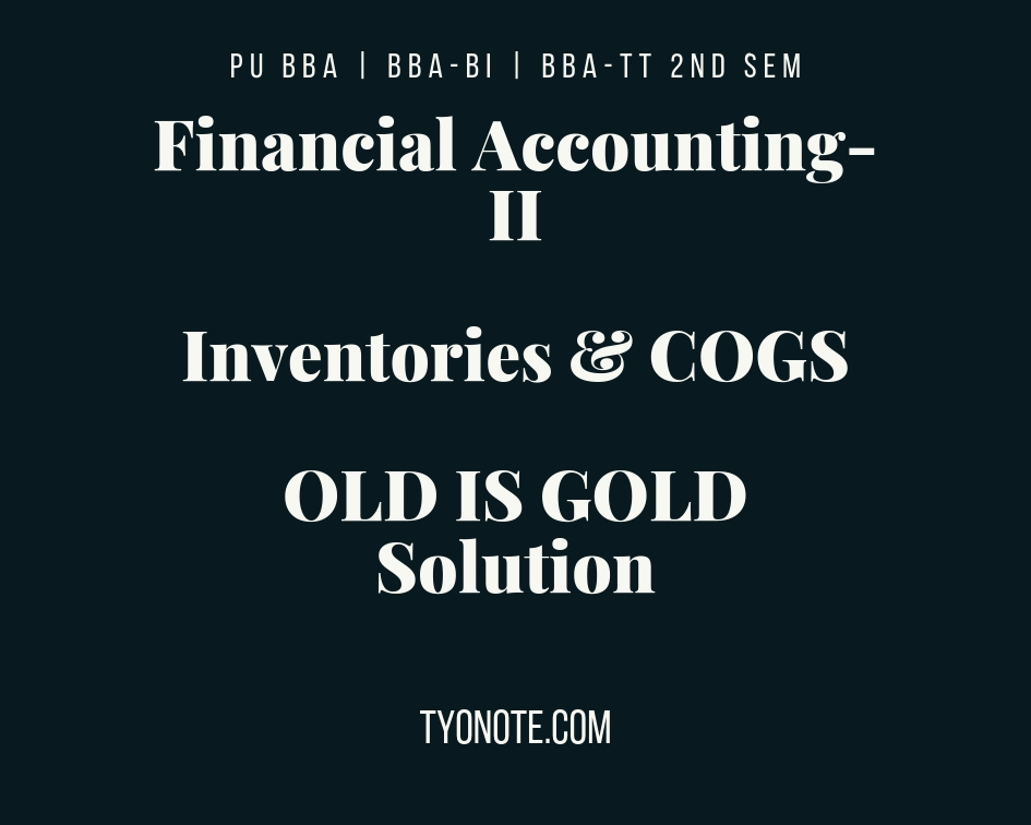 PU Financial Accounting-II inventories and cogs fifo lifo example