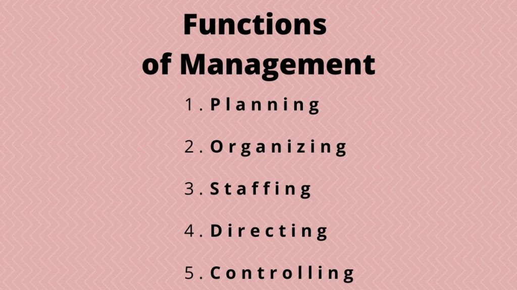 5 management functions