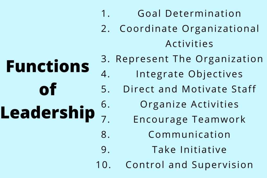10 important leadership functions