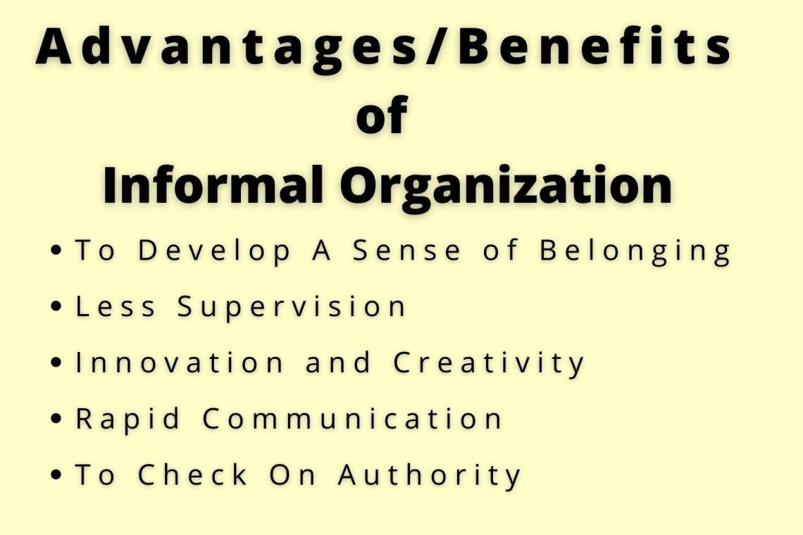 benefits of formal organization