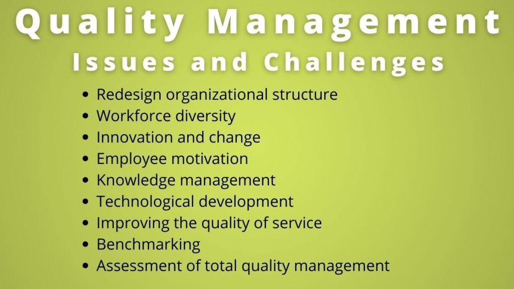 quality management issues