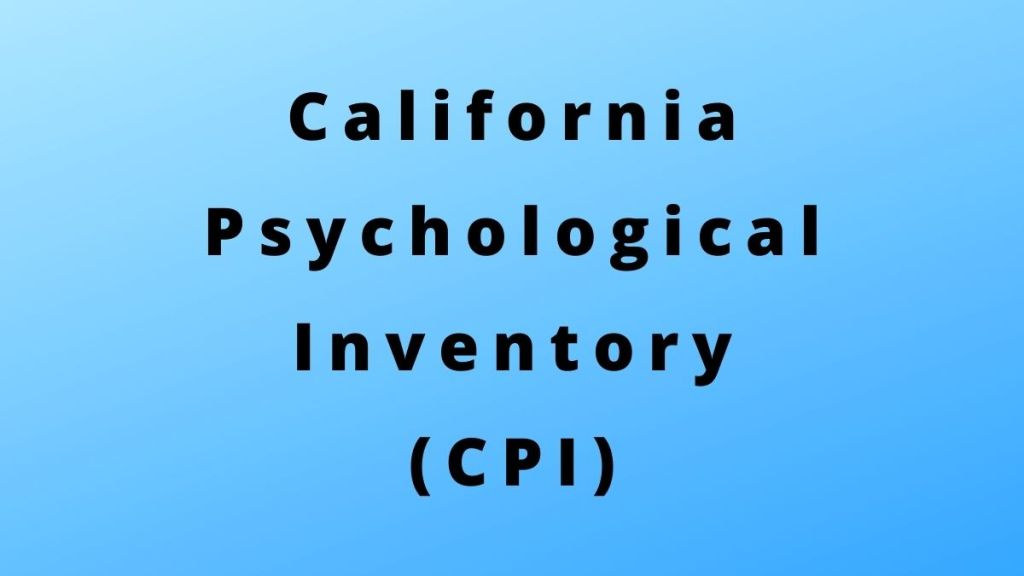 California Psychological Inventory