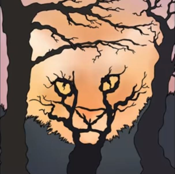 tree and a tiger