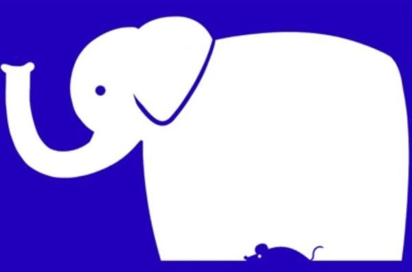 an elephant or a mouse