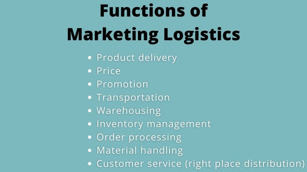 marketing logistics functions