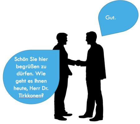 Työelämä tervehtiminen Saksa