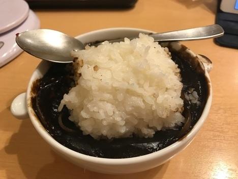 伊賀レストランito名物デカ盛りハヤシライス終盤