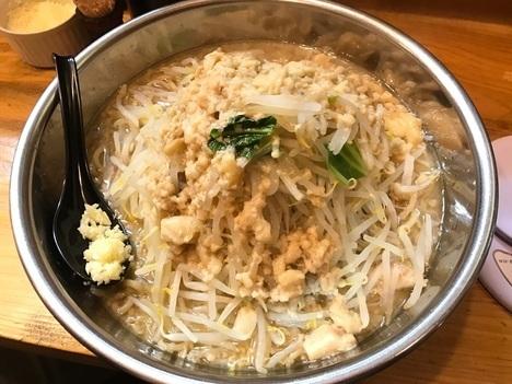 北九州二郎系ラーメン小倉だるま麺マシ1kg上アングル