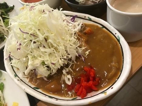 福島カウリキッチン自然食バイキングランチカレー
