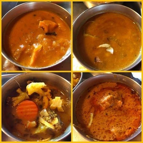 佐野インドカレー食べ放題印度家ランチ大食いカレー4種類