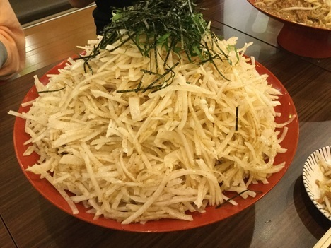 ちばチャン上野店デカ盛りオフ会大根サラダ超大バカ