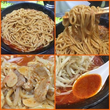 中本インスパイア蒲田荒木屋大辛肉味噌麺野菜大盛り各場面