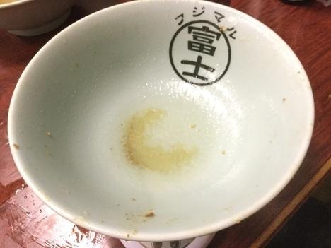 ラーメン富士丸神谷本店ブタメン大盛り完食