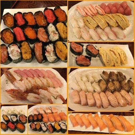 小山にぎり寿司新門食べ放題ランチにぎりと軍艦