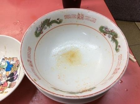 秩父悦楽苑味噌ラーメン大盛り完食