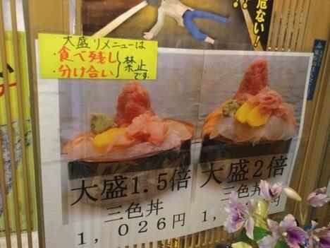 東松山竹寿司大盛り2倍1.5倍メニュー