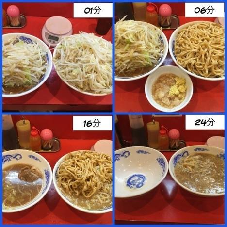 ドンキタモト別盛麺増し野菜トリプル経過