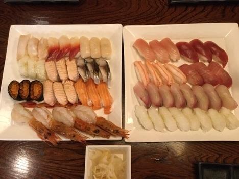 小山にぎり寿司新門食べ放題のランチ