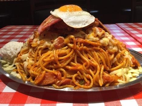 スパゲティのパンチョ大宮店ナポ星人全部乗せ接写