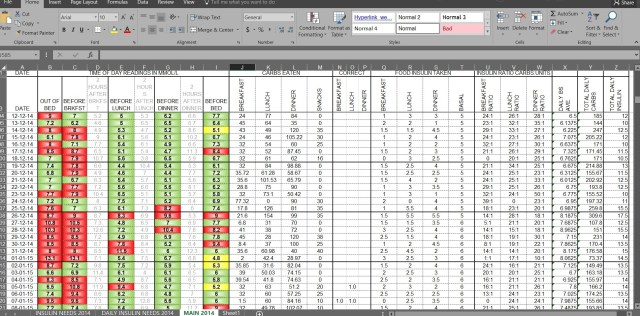 Gaining control - My Excel log sheet