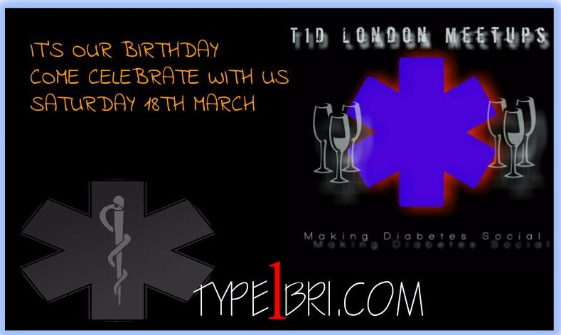 T1D London Meetups - It's Our Birthday