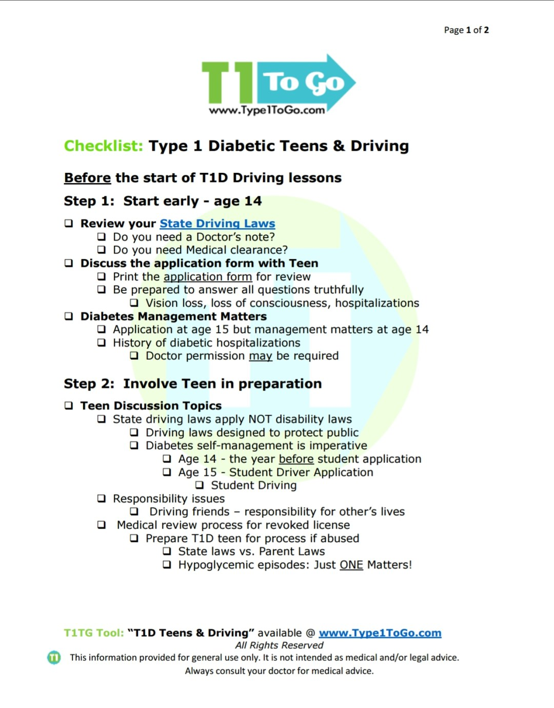 Type 1 Diabetic Teens Driving