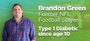 Brandon Green Former NFL Football Player Type 1 Diabetic Athlete & Coach