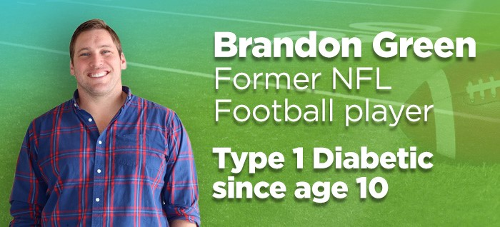 Brandon Green Type 1 Diabetic and Former NFL Football Player