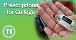 Medication checklist for diabetes at college.