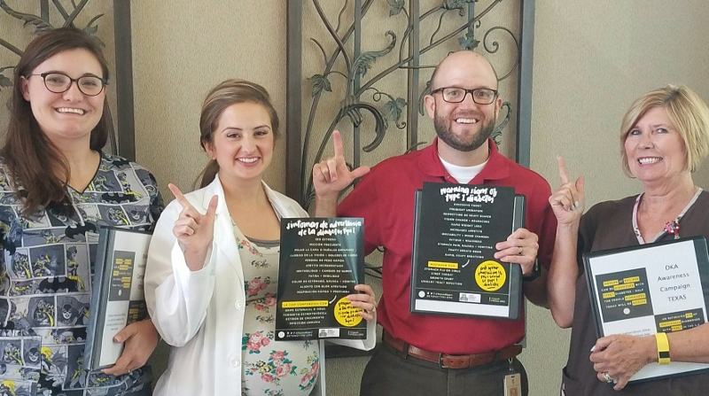 Texas Tech University kicks off the Beyond Type 1 Type 1 Diabetes/DKA Campaign.