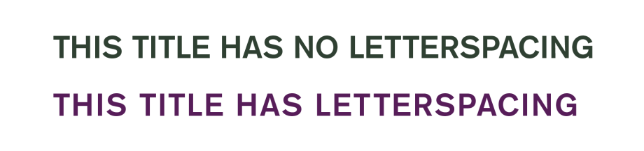 Letterspace capitals