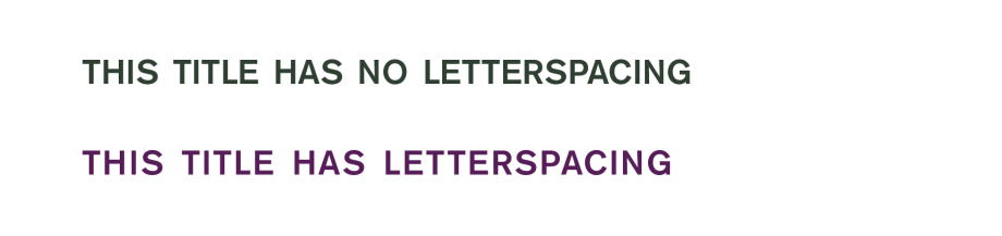 Letterspace small caps
