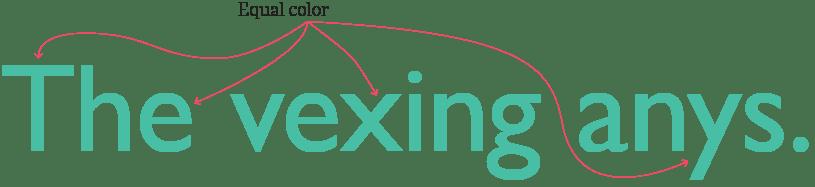 Typographic Color
