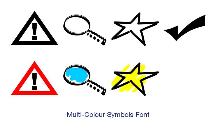 Multi-colour symbol font