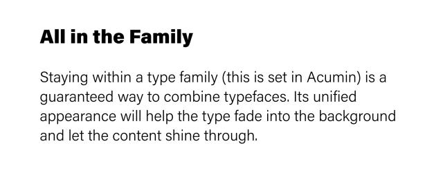type family acumin